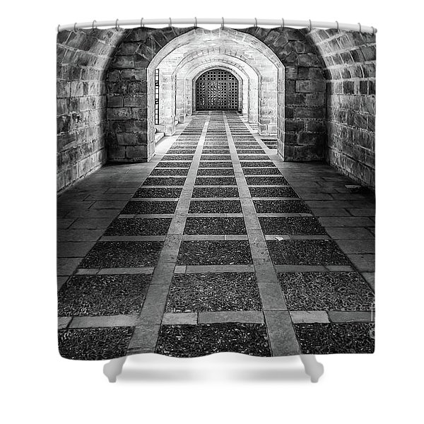 Symmetry In Black And White Shower Curtain