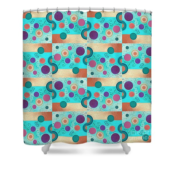 T J O D 50 Arrangement 2 Inverted Shower Curtain
