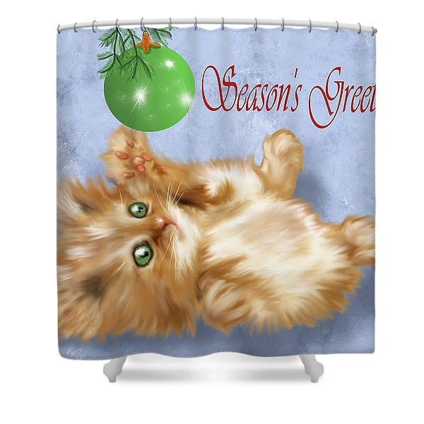 Tabby Greetings Shower Curtain
