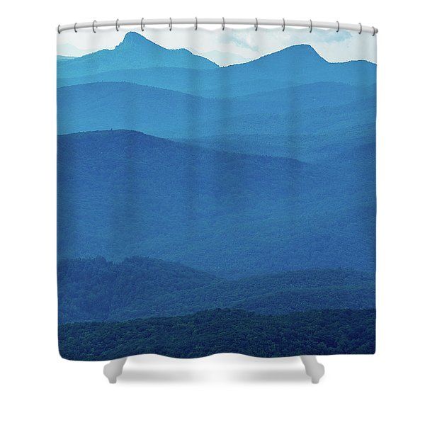 Table Rock And Hawksbill  Mountain - Linville North Carolina - Blue Ridge Parkway Shower Curtain
