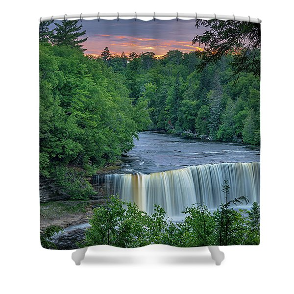 Tahquamenon Falls Sunset. Shower Curtain