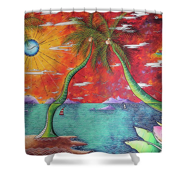 Take Me To The Tropics Tropical Surrealism Mad Wonderland By Megan Duncanson Shower Curtain