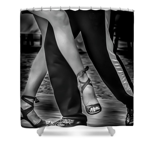Tango Of Feet Shower Curtain