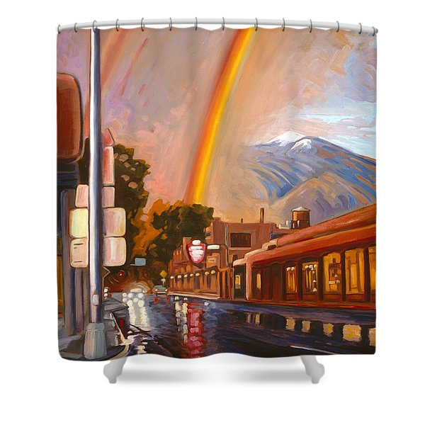 Taos Rainbow Shower Curtain