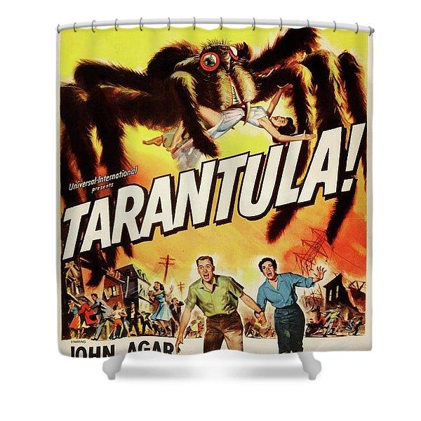 Tarentula Movie Poster Shower Curtain