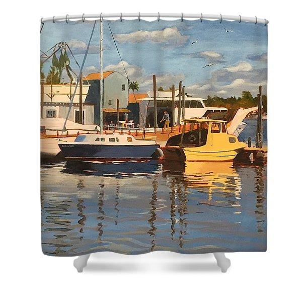 Tarpon Springs Harbour Shower Curtain