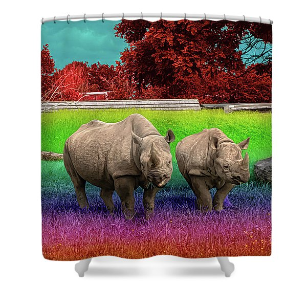 Taste The Rhin-bow Shower Curtain