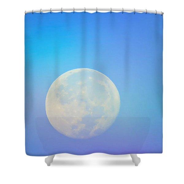 Taurus Almost Full Moon Blend Shower Curtain