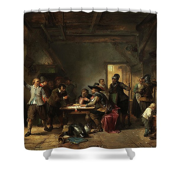 Tavern With Soldiers Shower Curtain