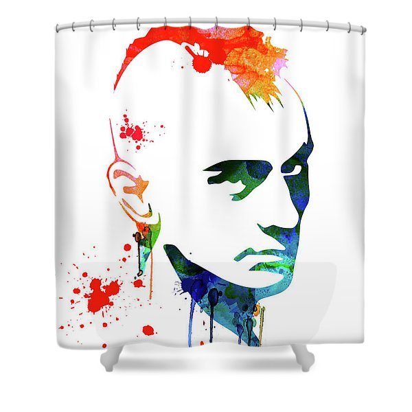 Taxi Driver Watercolor Shower Curtain