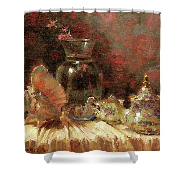 Tea By The Sea Shower Curtain