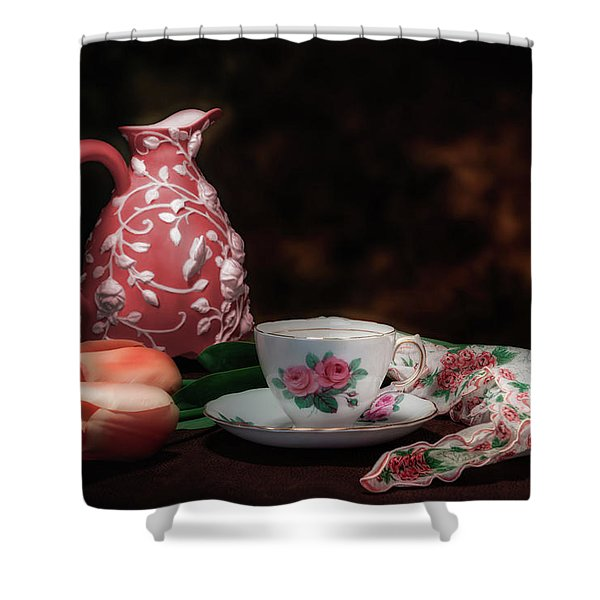 Teacup Shower Curtain