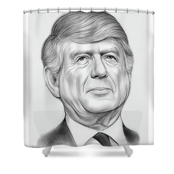 Ted Koppel Shower Curtain
