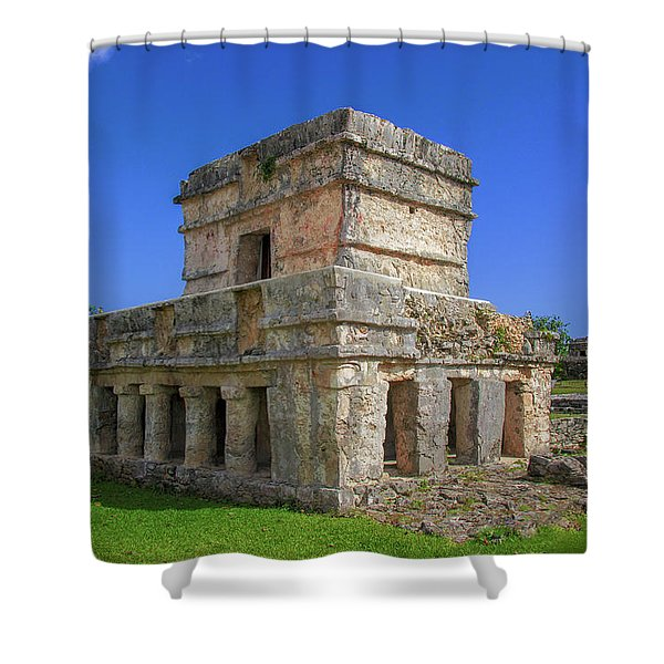 Temple Of The Frescoes Shower Curtain