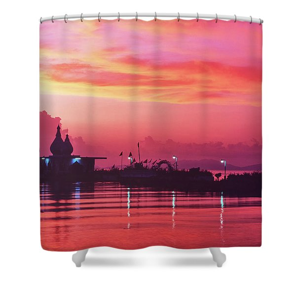Temple On The Sea Shower Curtain