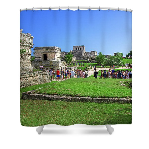 Temples Of Tulum Shower Curtain