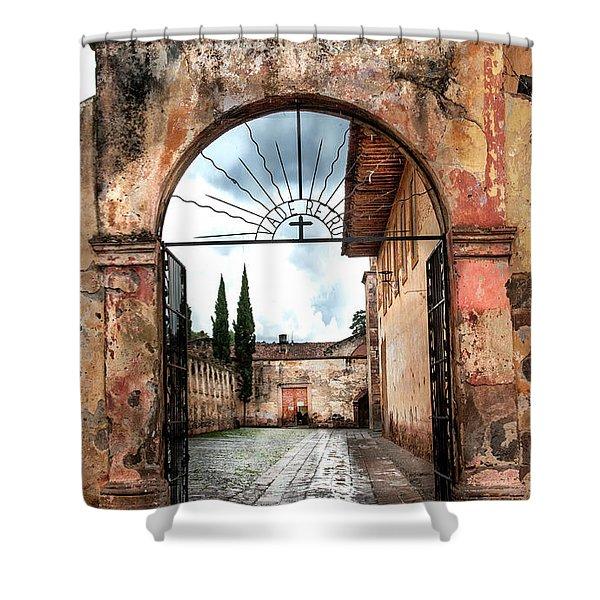 Templo Del Sagrario Shower Curtain