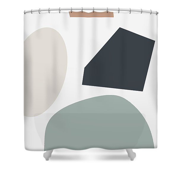 Terrazzo Abstract R- Art By Linda Woods Shower Curtain