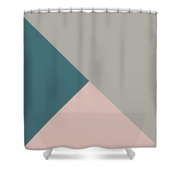 Terrazzo Corners 3- Art By Linda Woods Shower Curtain