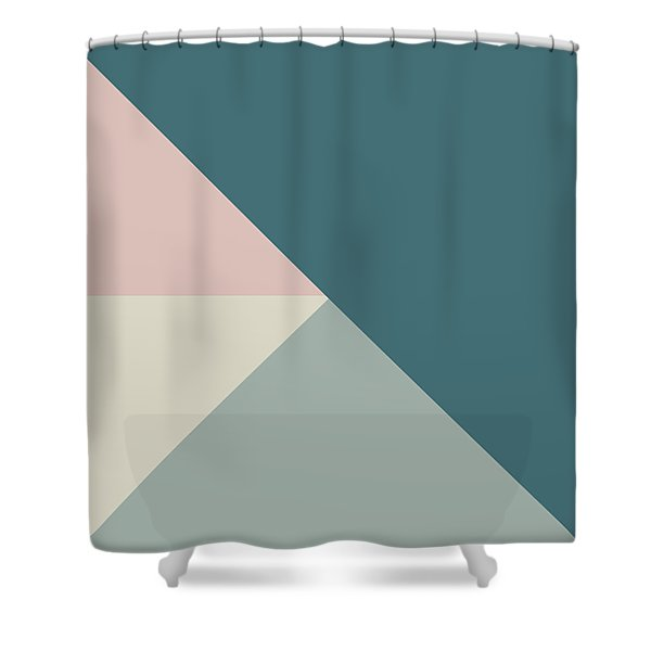 Terrazzo Corners 4- Art By Linda Woods Shower Curtain