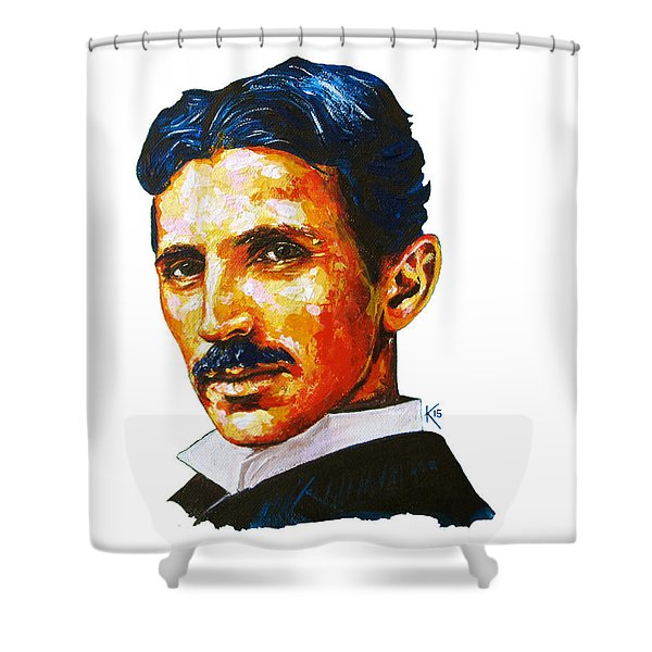 Tesla - Pure Genius Shower Curtain