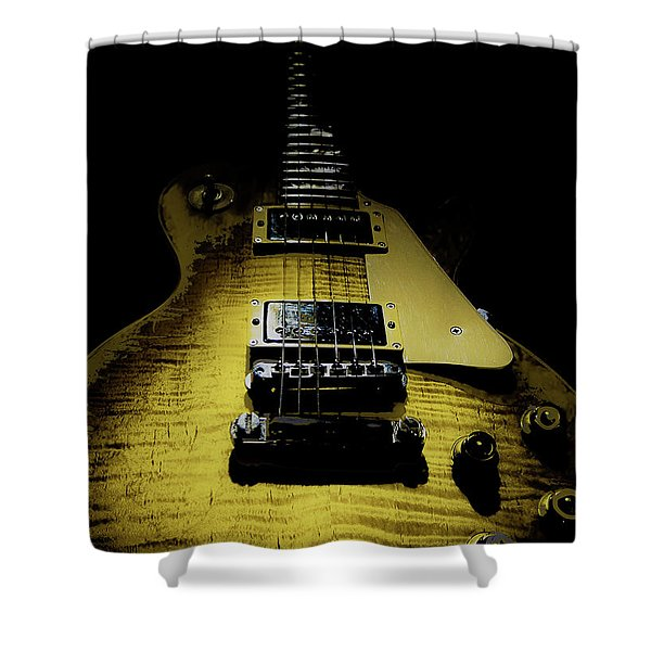 Honest Play Wear Tour Worn Relic Guitar Shower Curtain