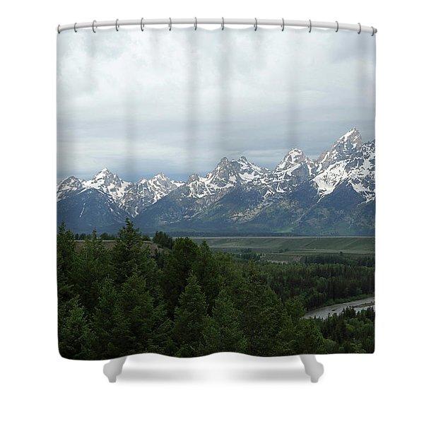 Tetons Shower Curtain