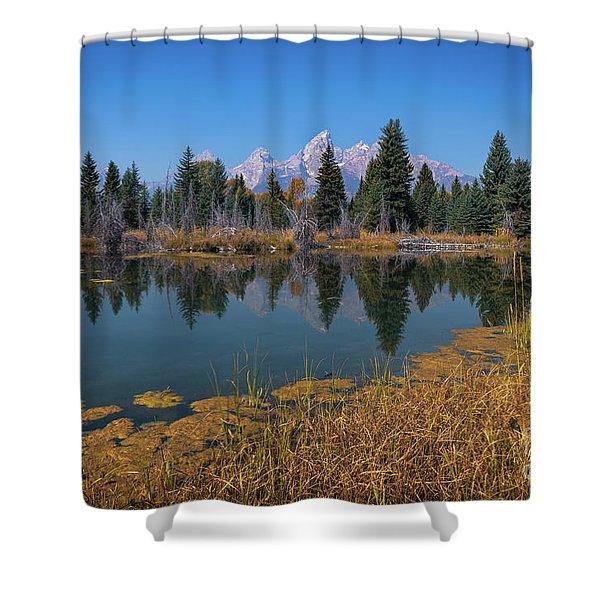 Tetons Majesty Shower Curtain