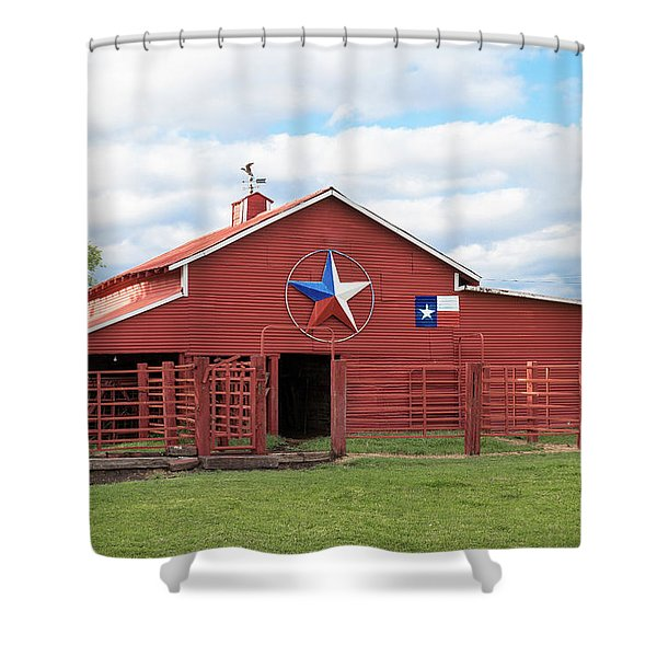 Texas Red Barn Shower Curtain