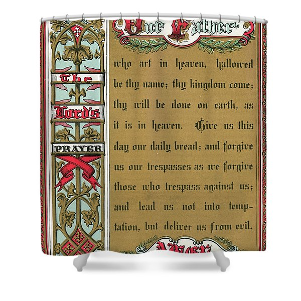 Text Of The Lords Prayer Shower Curtain