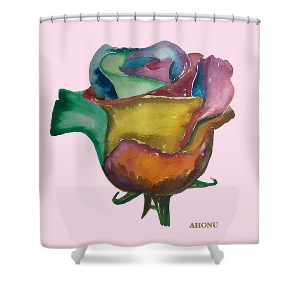 The 1111 Global Rose Shower Curtain