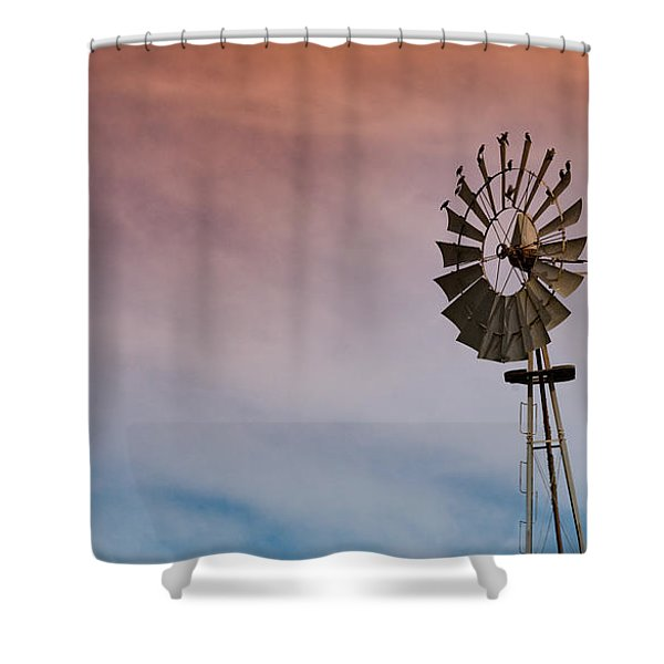 Shower Curtain featuring the photograph The Aermotor Chicago Co. By Mike-hope by Michael Hope