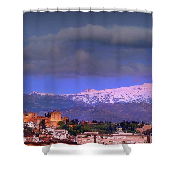 The Alhambra, Albaicin. Spring Time Shower Curtain