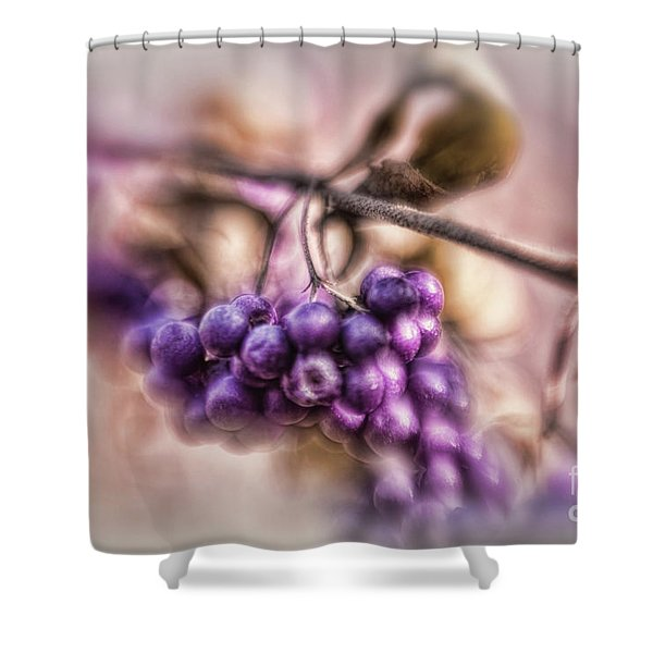 The American Beautyberry Shower Curtain