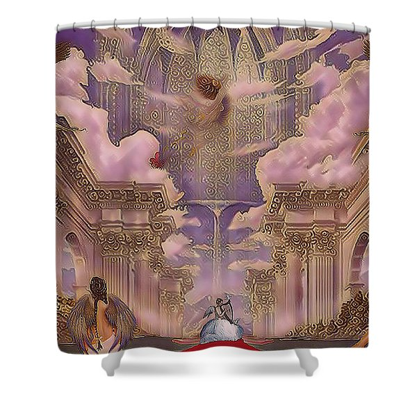 The Angels Palace Shower Curtain