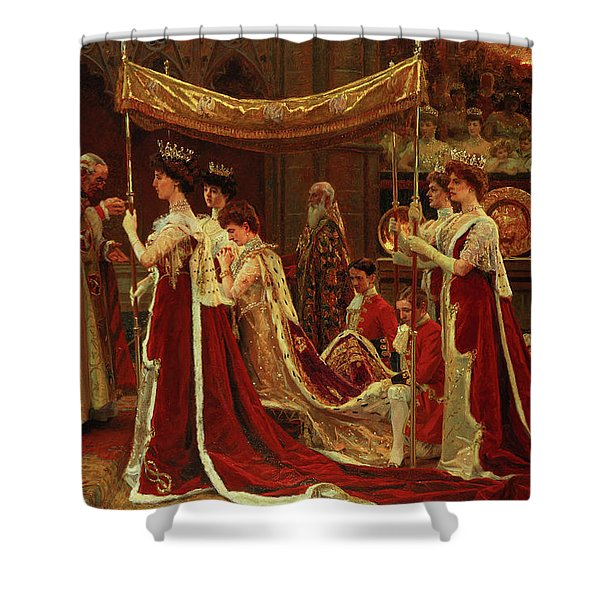 The Anointing Of Queen Alexandra At The Coronation Of King Edward Vii Shower Curtain