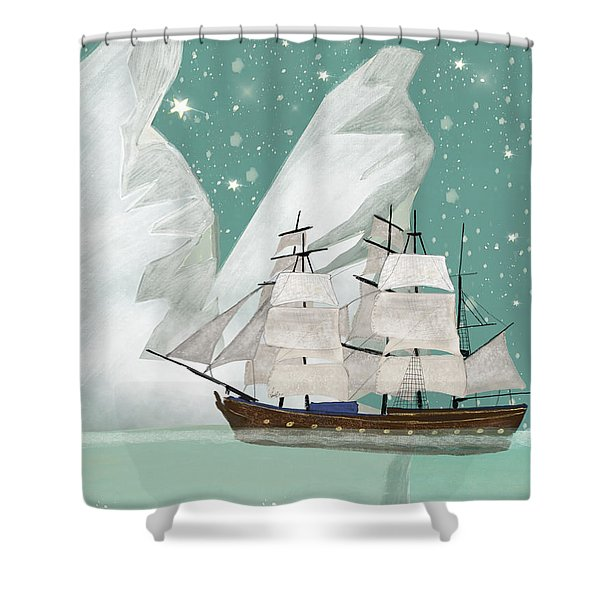 The Arctic Voyage Shower Curtain