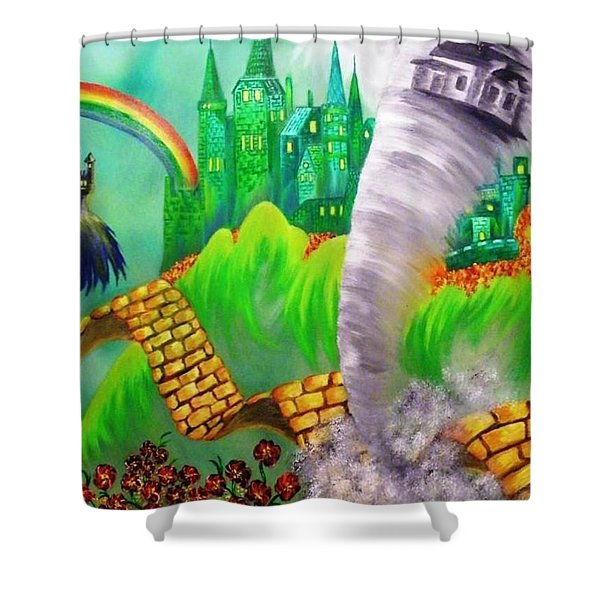 The Arrival Revisited Shower Curtain