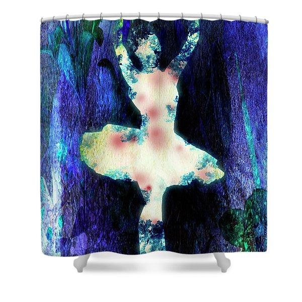 The Ballet Dancer Shower Curtain