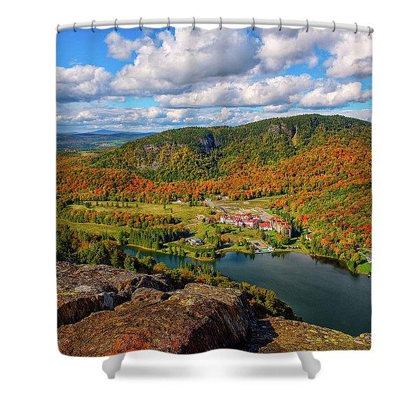 The Balsams Resort Autumn. Shower Curtain