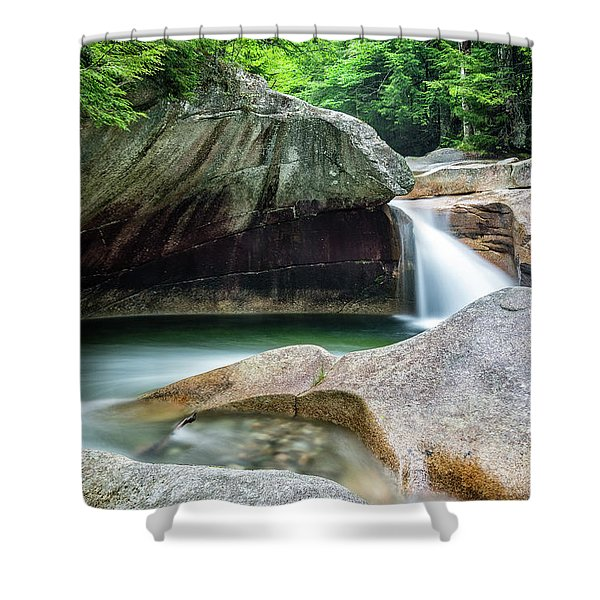 The Basin, Springtime Nh Shower Curtain