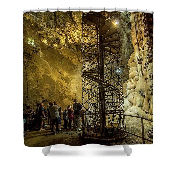 The Bat Cave Shower Curtain