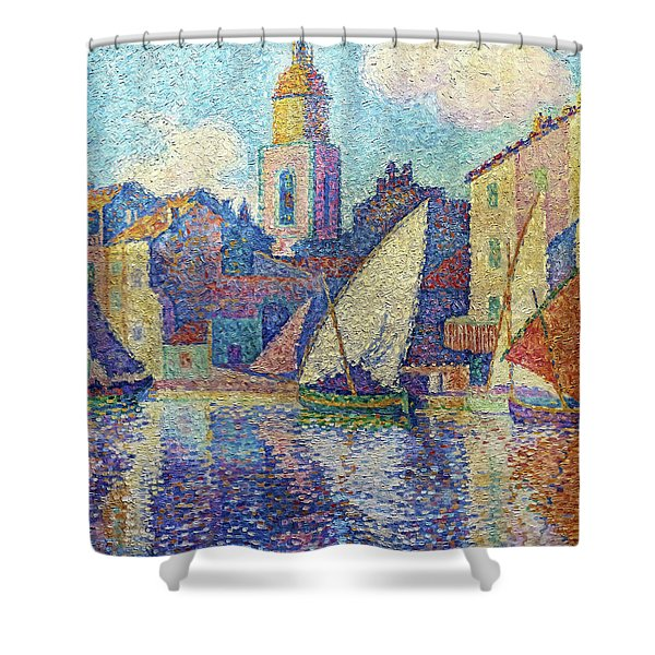 The Bell Tower Of Saint-tropez - Digital Remastered Edition Shower Curtain