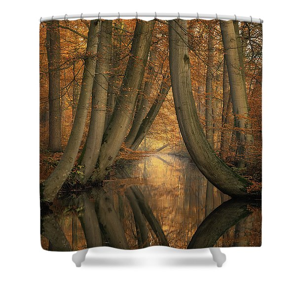 The Bent Ones Shower Curtain