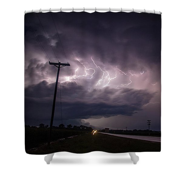 The Best Supercell Of The Summer 040 Shower Curtain