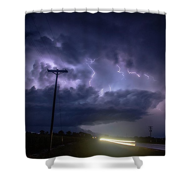 Shower Curtain featuring the photograph The Best Supercell Of The Summer 043 by NebraskaSC
