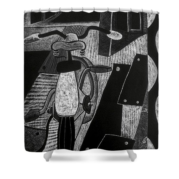 The Bicycle. Shower Curtain