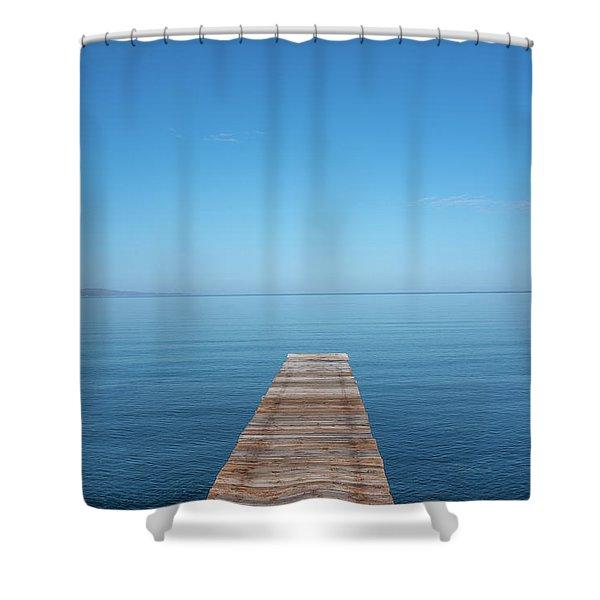 The Big Deep Blue Shower Curtain