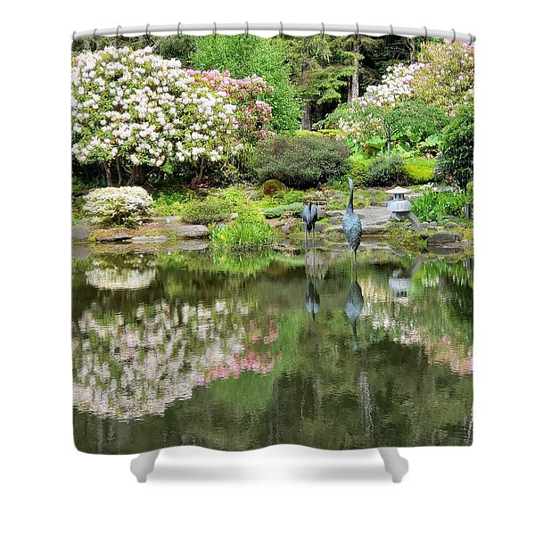 The Birds Of Shore Acres Shower Curtain