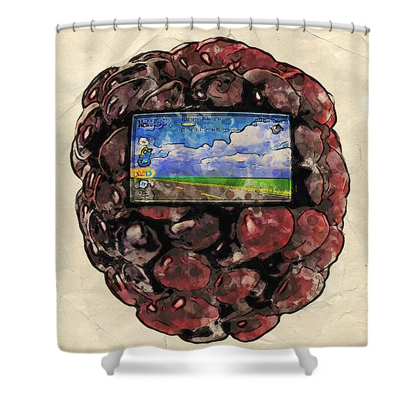 The Blackberry Concept Shower Curtain